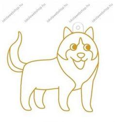 Fényvarázsforma, kicsi kutya-szibériai huskey