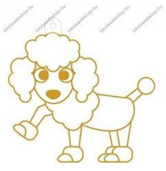 Fényvarázsforma, kicsi kutya-pudli