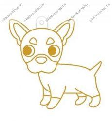 Fényvarázsforma, kicsi kutya-francia bulldog