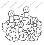 Fényvarázsforma, kicsi karácsony - adventi koszorú (arany szegéllyel)