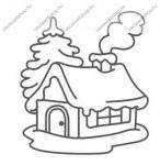 Fényvarázsforma, kicsi havas házikó