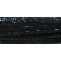 Zsenília, fekete, 6 mm x 300 mm (1 db)