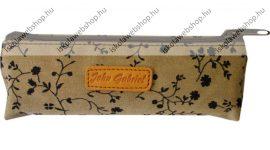 John Gabriel vászon virágos tolltartó, Barna