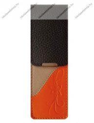 John Gabriel bőr patentos tolltok 5 cm széles, Szivárvány kollekció, MANDARINO