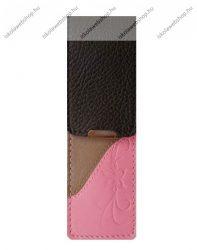 John Gabriel bőr patentos tolltok 5 cm széles, Szivárvány kollekció, ROSA