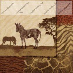 Szalvéta, Zebrák, 3 rétegű, 33x33 cm, 1 db
