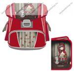 Santoro - Gorjuss ergonómikus merev falú iskolatáska szett, Little Red Riding Hood