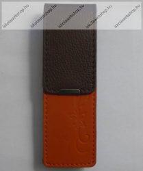 John Gabriel bőr patentos tolltok 5 cm széles, MANDARINO