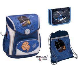 Belmil Cool Bag Pirates/Kalózos/Hajós iskolatáska szett (helikopteres tolltartóval)