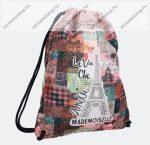 Anekke Sportos vászon hátizsák,  33x7x45 cm, Pink/Eiffel torony (298801)
