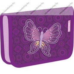 Belmil kihajtható tolltartó, Butterfly/Pillangós/Colorful