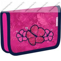 Belmil kihajtható tolltartó, Virágos/Tropical Pink