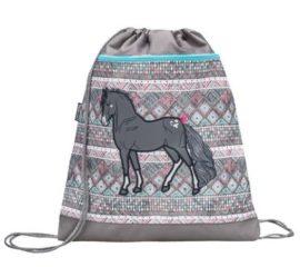 Belmil hálós és zsebes tornazsák, Horse/Lovas