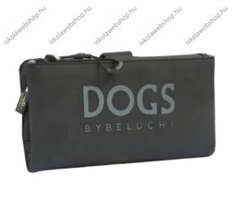Dogs by Beluchi pénztárca, Fekete, Patentos-Cipzáras, 20X2X10 cm (29389-06Bla) 2938
