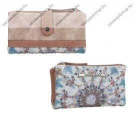 Dogsbybeluchi pénztárca, Nude, Patentos, Cipzáras, 17,5X2X10 cm (30340)(30349-07)