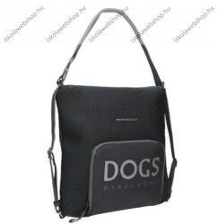 Dogs by beluchi Táska, Fekete, Backpack, Kétfunkciós, 30X6X32 cm (29385-01Bla)
