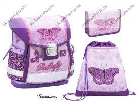 Belmil Classy Shiny Butterfly/Pillangós iskolatáska szett (403-13)