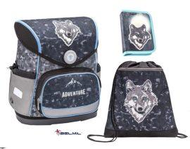 Belmil Compact Wolf/Farkasos iskolatáska szett (405-41)