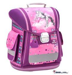 Belmil Sporty Pinky Unicorn/Unikornis/Lovas iskolatáska (404-5)