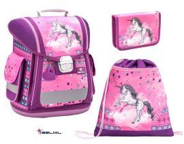 Belmil Sporty Pinky Unicorn/Unikornis/Lovas iskolatáska szett (404-5)