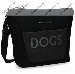 Dogs by beluchi válltáska, Fekete, 2938, 34/26X10X27 cm (29382-04Bla)