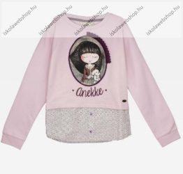 Anekke gyermek pulóver, rózsaszín, 5-6 év (RH6138)