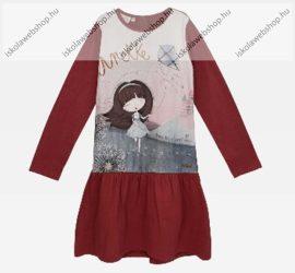 Anekke gyermek dressz/ruha fodros szoknyarésszel, 5-6 év (RH6120)