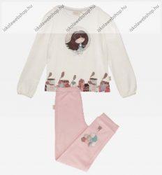 Anekke gyermek pizsama szett, bézs-rózsaszín, 5-6 év (RH7468)