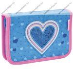 Belmil kihajtható/klapnis tolltartó,  Jeans Heart