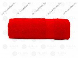 Egyszínű törölköző, Piros, 30x50 cm