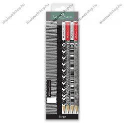 Faber-Castell grafitceruza készlet radírral, Stripe