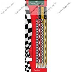 Faber-Castell grafitceruza készlet radírral, Racing/Versenyautós/Autós