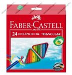 Faber-Castell ECO háromszögletű színesceruza, 24 db