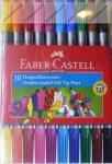 Faber-Castell kétvégű filctoll, 10 db/20 filcvég