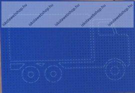 Hímzőkarton, 17,5x24,5 cm, Autós (1 db)- Folia
