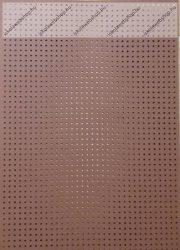 Hímzőkarton, 17,5x24,5 cm, barna (1 db)- Folia
