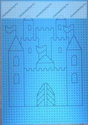 Hímzőkarton, 17,5x24,5 cm, Kastély (1 db)- Folia