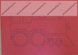 Hímzőkarton, 17,5x24,5 cm, Mozdony (1 db)- Folia
