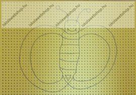 Hímzőkarton, 17,5x24,5 cm, Pillangós (1 db)- Folia