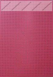 Hímzőkarton, 17,5x24,5 cm, piros (1 db)- Folia
