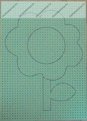 Hímzőkarton, 17,5x24,5 cm, Virág (1 db)- Folia