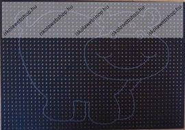 Hímzőkarton, 17,5x24,5 cm, Víziló (1 db)- Folia