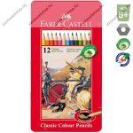 Faber-Castell Classic fémdoboz színes ceruza lovag mintás, 12db