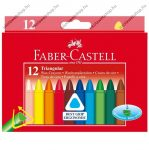 Faber-Castell háromszög viaszkréta/zsírkréta, 12 db