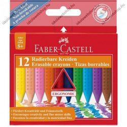 Faber-Castell GRIP radírozható zsírkréta,12 db-os