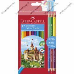 Faber-Castell színesceruza készlet, 12 szín + 3 db Bicolor