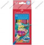 Faber-Castell aquarell színesceruza, 12 db + ajándék ecset