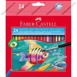 Faber-Castell aquarell színesceruza, 24 db + ajándék ecset