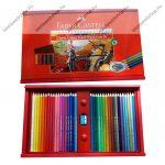 Faber-Castell színes ceruza fadobozban, 36 db + hegyező/faragó