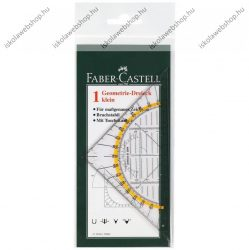 Faber-Castell műszaki vonalzó, háromszögű, szögmérős